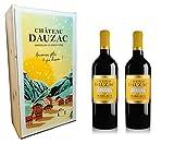 Château Dauzac Coffret Noel 2 Millesimes Vin Rouge Vegan AOP Margaux Bordeaux Grand Cru Classe en 1855 2 x 75 cl