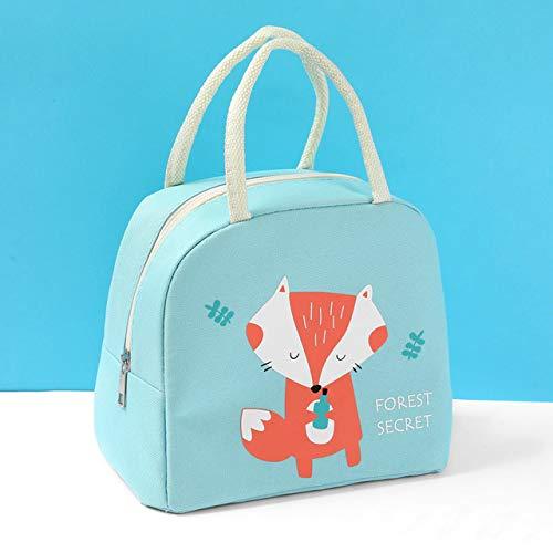 Bolsa de almuerzo de animales de dibujos animados para niña,bolsa de almuerzo para mujer,chico,impermeable,portátil,con cremallera,térmica Oxford,cómoda,caja de almuerzo,bolsa para barbacoa y comida