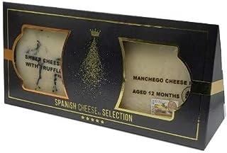 Spanish Cheese | Bi-Pack Spanish Cheese Selection | Manchego 12mo. & Truffle Sheep Cheese | 13.4oz/380grs | Pack of 1