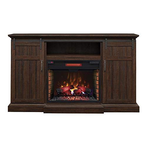 ClassicFlame Manning Infrared Electric Fireplace Entertainment Center, Saw Cut Espresso - 28MM9954-PD01