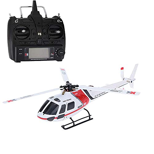 XHLLX Helicóptero RC, 2.4G 6ch Sistema sin escobillas 3D6G Flybarless RC helicóptero Compatible, Modelo Hobby RC helicópteros, Helicóptero de Juguete de Vuelo de RC sin escobillas eléctrico