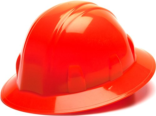 Pyramex Safety SL Series Full Brim Hard Hat, 4-Point Ratchet...