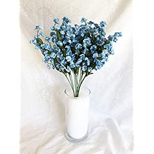 12 Light Blue Baby's Breath Stems ~ Gypsophila Silk Wedding Flowers Centerpieces