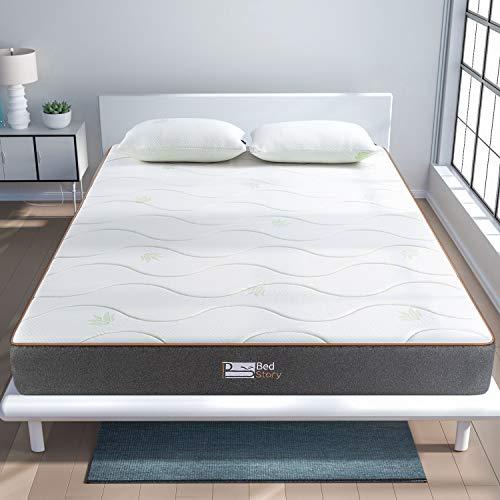 BedStory Colchon Viscoelastico Aloe Vera Colchones para Cama Hotel Viscoelastica Firmeza Media Anti-ácaros e Hipoalergénicos (135x190cm)