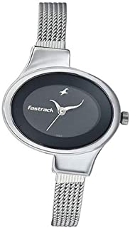 Fastrack Women's Black Dial Stainless Steel Band Watch - 6015SM02
