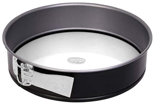 Dr. Oetker Springform Ø 26 cm mit Glasboden, Backform mit schnitt- & kratzfestem Glas-Boden, runde Kuchenform mit Antihafteigenschaften, Menge: 1 Stück