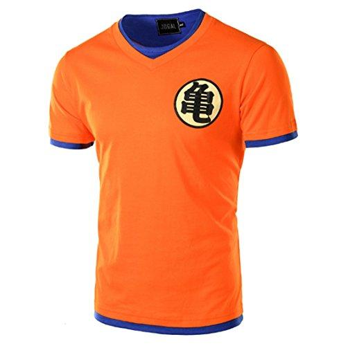 CHENMA Hommes Dragon Ball Goku Pull-Over Slim Fit T-Shirt
