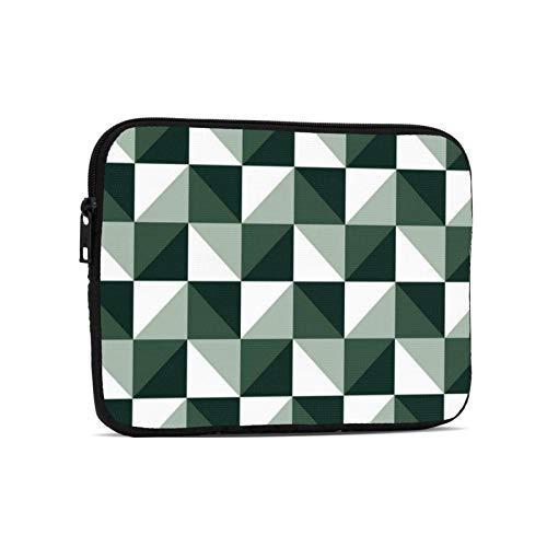 Moda Simple Ajedrez Triángulo Portátil Funda Protectora Bolsa Maletín Trabajo Negocios Delgado Tablet Bolso para 9.7 pulgadas Notebook Tablet