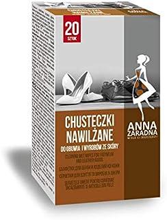 ANNA ZARADNA Lot de 20 lingettes humides ST-AZ-030514 - Pour le nettoyage des chaussures et des chaussures - Chiffon blanc...