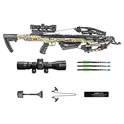 Killer Instinct Burner 415 Crossbow Bow Pro Package with 3 Arrow Bolts and Adjustable Foregrip for Archery Hunting Hunters