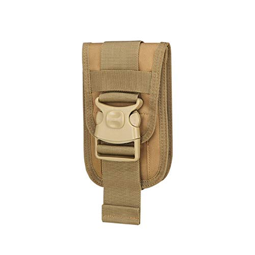 Phone Holster Outdoor Belt Waist Bags Utility Vest Card Carrier Bag Mini Multi-function Travel Bag Pack EDC Pouch (Color : Khaki)