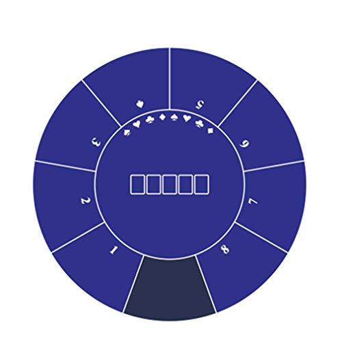 1,2 × 1,2 m Multifunktion Poker Tischmatte - Einfach zu säubern - Texas Hold 'em Gummimatte Hergestellt aus hochwertigem wasserdichtem Material - für Partys, Pokerabende oder als Geschenk usw blue - 1