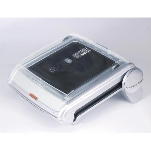 George Foreman Lean, Mean Grilling Machine Grill with Bun Warmer