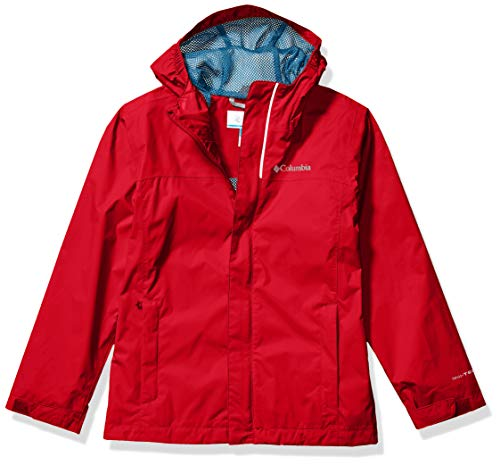 Columbia Boys' Big Breathable Watertight Jacket, Red Mountain, Medium