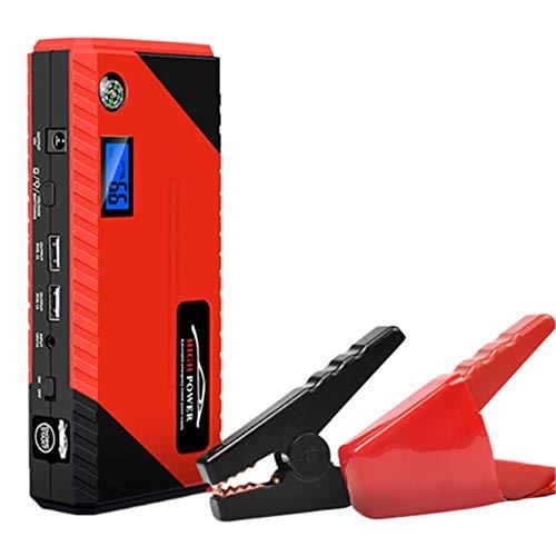 Starter Starter Starter 1000A 12V Emergencia portátil Power Power Bank Alete Booster Anciando dispositivo impermeable, con puerto de carga inteligente, brújula, pantalla LCD y luz LED