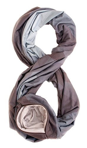 Waypoint Goods Infinity Scarf with Zipper Pocket - Durable, Stylish Travel Scarf for Women with Secret, Hidden Pocket to keep Phone, Passport, and Money Secure