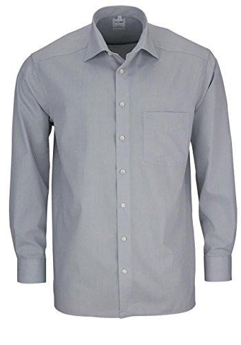 OLYMP Herren Hemd Comfort Fit Langarm Silber (12) 46