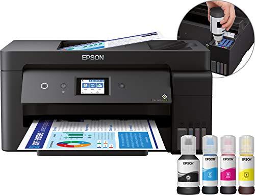 Epson EcoTank ET-15000 4-in-1 Tinten-Multifunktionsgerät (Kopie, Scan, Druck, Fax, A3, ADF, Full-Duplex, WiFi, Ethernet, Display, USB 2.0), großer Tintentank, hohe Reichweite, niedrige Seitenkosten