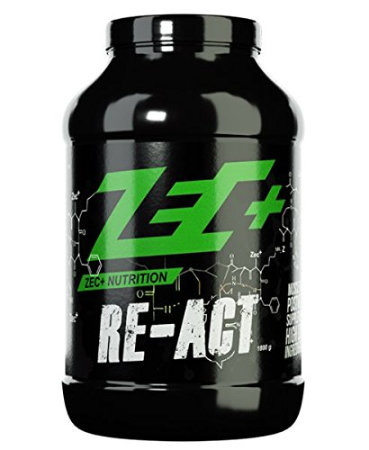ZEC+ Re-Act Shake | All-in-one Post Workout Formel mit essentiellen Aminosäuren | Creatin-AKG | Glutamin-AKG | Ergogenics | Vitaminen und Mineralien | Geschmack MANGO 1800g