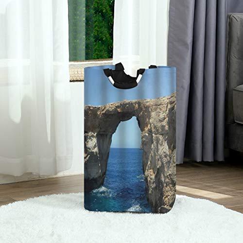 SURERUIM Bolsa de lavandería,Arte de impresión Juego de Tronos Mirando el Lugar Cesta de lavandería Plegable Grande,Cesto de Ropa Plegable,Papelera de Lavado Plegable