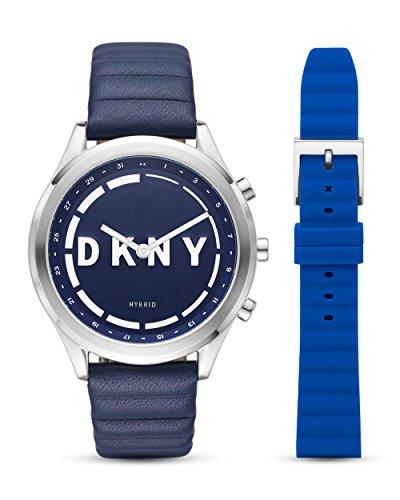 DKNY Blauer Edelstahl damenuhr Minute Set mit Hybrid-Smartwatch & Wechselarmband NYT6104