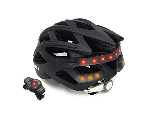 LIVALL bh60se Música, luz Trasera, Intermitente, Sistema de navegación, función de Llamada y SOS Bicicleta Casco, Todo el año, Unisex, Color Negro, tamaño 55-61cm