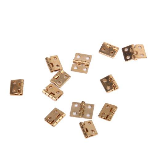 12pcs Gabinete Armario Mini Bisagras para 1/12 Casa De Munecas Miniatura Muebles