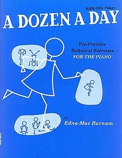 A DOZEN A DAY 1 - arrangiert für Klavier [Noten / Sheetmusic] Komponist: BURNAM EDNA MAE