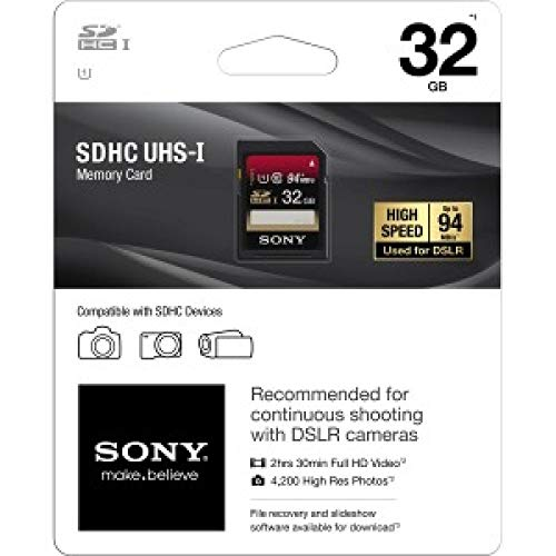 Sony SF32UX2 Class 10 SDHC 32GB Flash Speicherkarte
