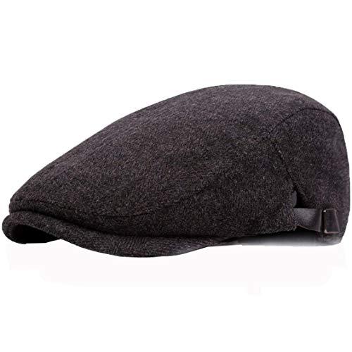 JAOAJ Herren Classic Flat Cap Beret Newsboy Cap Verstellbare Entenschnabelkappen Ivy Hat Irish Hat ,Fit 56〜60CM