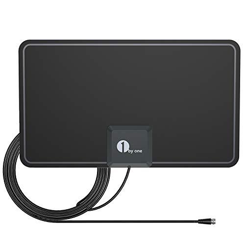 Antena HDTV Delgada de 1 x 1 Papel de 0,7 mm con excelente Rendimiento para señales Digitales de TV analógica y analógica, VHF UHF FM, Antena de Ventana, diseño Suave
