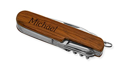 Dimension 9 Michael 9-Function Multi-Purpose Tool Knife, Rosewood - http://coolthings.us