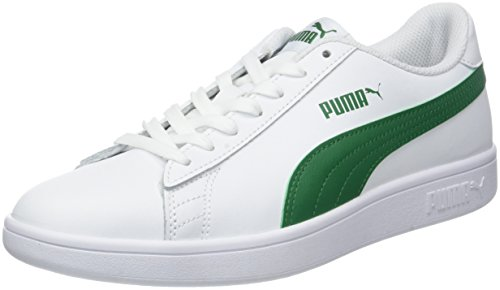 Puma Unisex-Erwachsene Smash v2 L Sneaker, White-Amazon Green, 42 EU