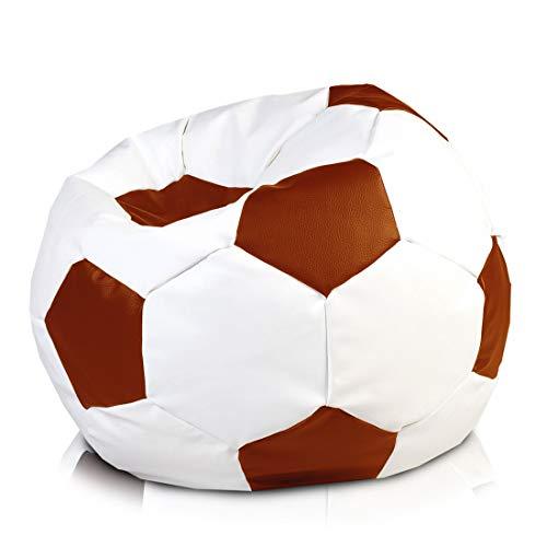 Ecopuf Fußball aus Kunstleder – Fußball M Sitzsack aus Kunstleder – 65 x 45 cm