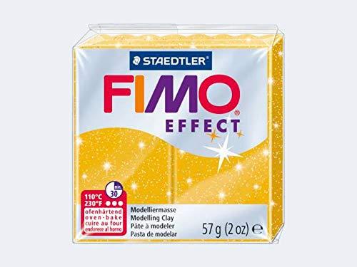 Staedtler Fimo - Pasta para modelar (57 g), color dorado brillante