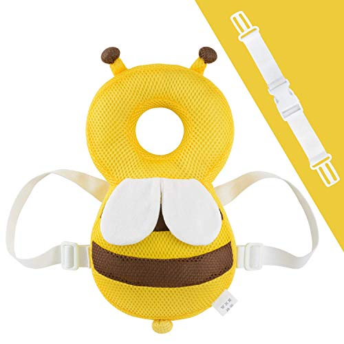 TWONE(トォネ)ベビーヘッドガード 赤ちゃんのごっこん防止リュック 転倒防止リュック ハチさんリュック ...