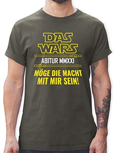 Abi & Abschluss - Das Wars Abi 2021 Möge die Macht mit Mir Sein - L - Dunkelgrau - Fun - L190 - Tshirt Herren und Männer T-Shirts