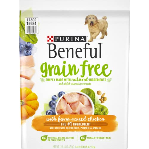 Purina Beneful Grain Free, Natural Dry Dog Food, Grain Free With Real Farm Raised Chicken - 12.5 lb. Bag