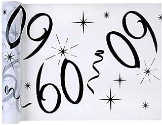 Chal - Chemin de table anniversaire 60 ans