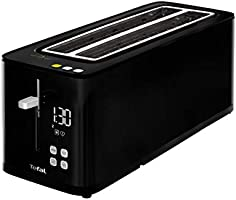 Tefal Smart'n Light TL6408 Broodrooster, 2 lange sleuven, digitaal display, digitale timer, 7 bruiningsniveaus,...
