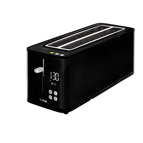 Tefal Smartn Light TL6408 Broodrooster, 2 lange sleuven, digitaal display, digitale timer, 7 bruiningsniveaus, eco-functie, energiebesparende functie, kruimellade, ontdooien