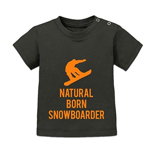 Shirtcity Natural Born Snowboarder Baby T-Shirt by