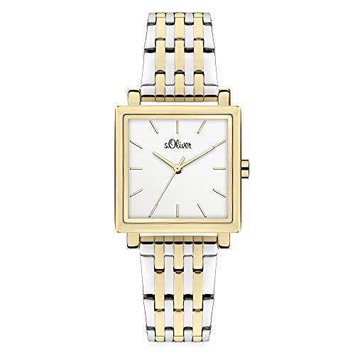 s.Oliver Damen Analog Quarz Uhr mit Edelstahl Armband SO-3982-MQ