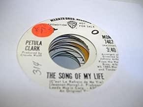 PETULA CLARK 45 RPM The Song Of My Life / Same
