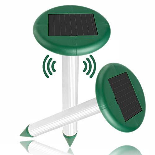 munloo 2 Pezzi di Repellente per Zanzare Solare, Repellente per Zanzare Ad Ultrasuoni Impermeabile E Antitarme, Rettili, Topi, Fattorie, Cortili E Giardino