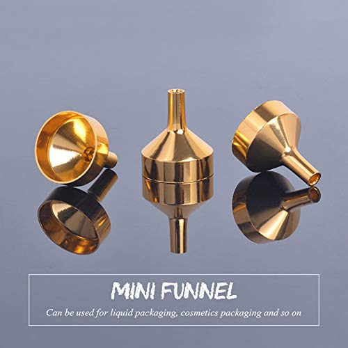 Hihey Piccolo Imbuto in Alluminio per Il riempimento di profumi, liquidi, Oli Essenziali e profumi