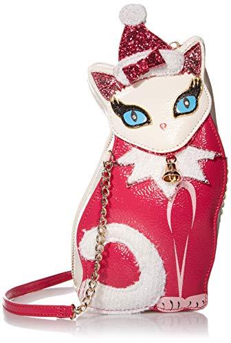 Betsey Johnson Kitsch Holiday Kitty Crossbody Bag, Pink Multi