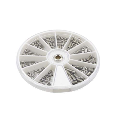 HVAZI #2-56#4-40#6-32 UNC Stainless Steel Internal Hex Drive Cup Point Set Screws Assortment Kit