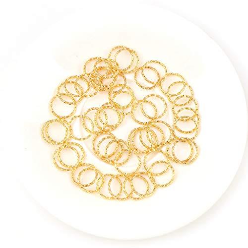 tiantianchaye 200 anillos de salto torcidos anillos de cierre DIY pendientes collar joyería
