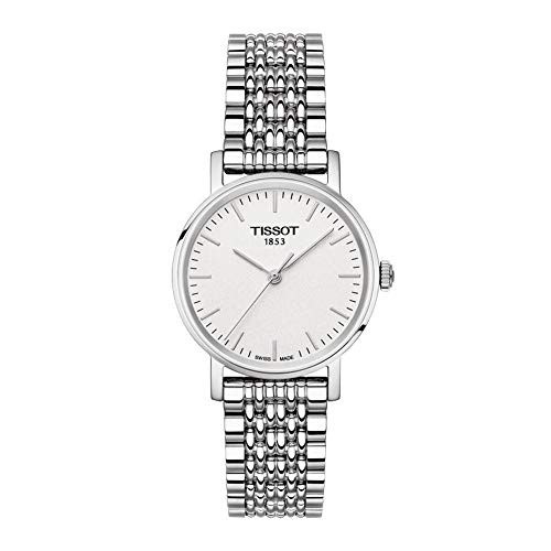 Tissot Damen Analog Quarz Everytime Small Armbanduhr mit Edelstahl Armband T1092101103300